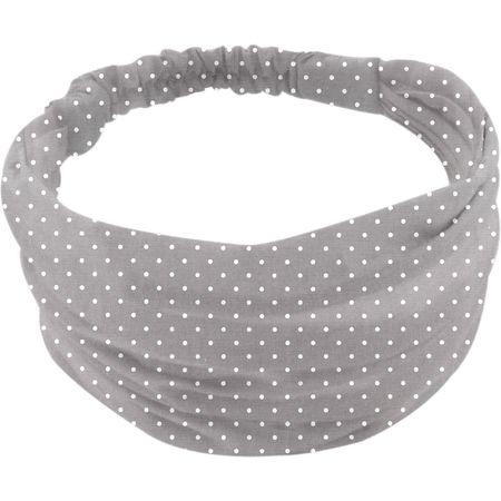 Headscarf headband- Baby size light grey spots