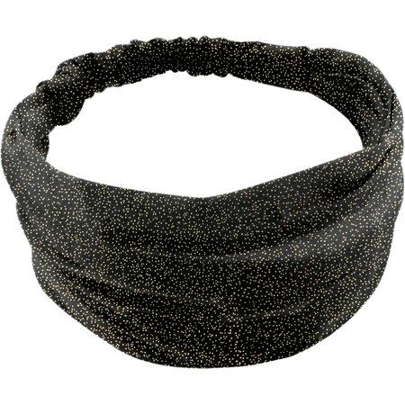Headscarf headband- Baby size noir pailleté