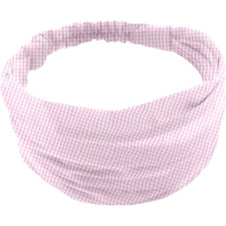 Turbantes para bebé cuadros vichy rosa