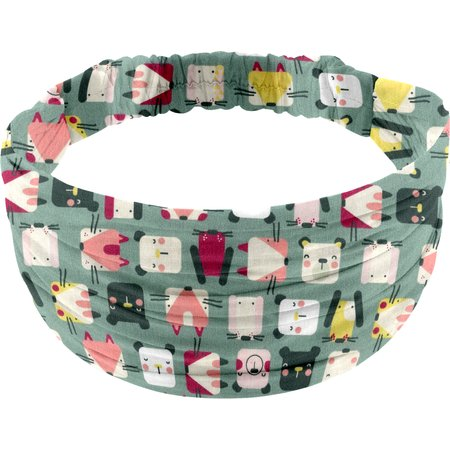 Headscarf headband- child size animals cube