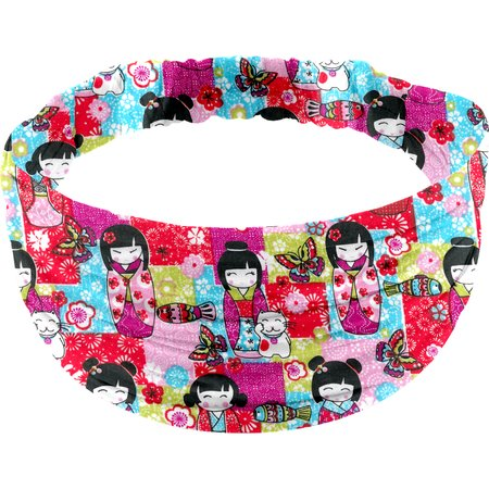 Headscarf headband- child size kokeshis