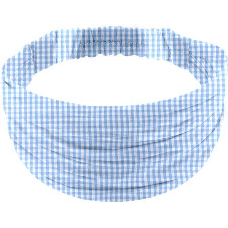 Headscarf headband- child size sky blue gingham