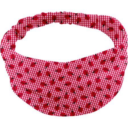 Headscarf headband- child size ladybird gingham