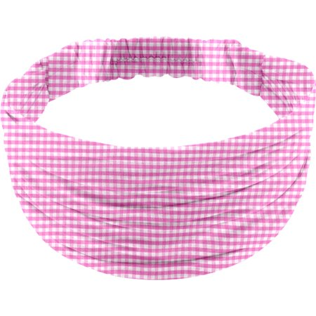 Headscarf headband- child size fuschia gingham