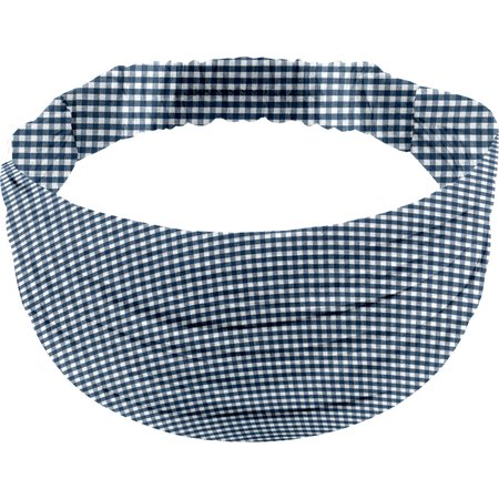Headscarf headband- child size navy blue gingham