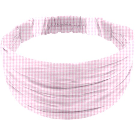 Headscarf headband- child size pink gingham