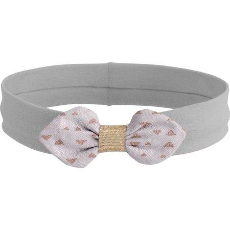 Bandeau jersey bébé noeud triangle cuivré gris