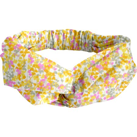 crossed headband mimosa jaune rose