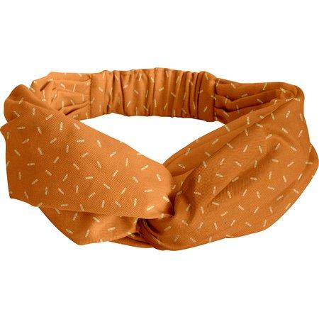 crossed headband caramel golden straw