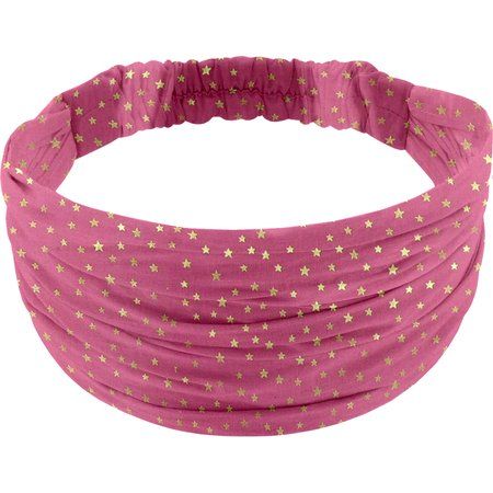Headscarf headband- child size etoile or fuchsia