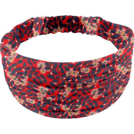 Headscarf headband- child size vermilion foliage