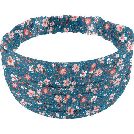 Headscarf headband- child size fleuri nude ardoise