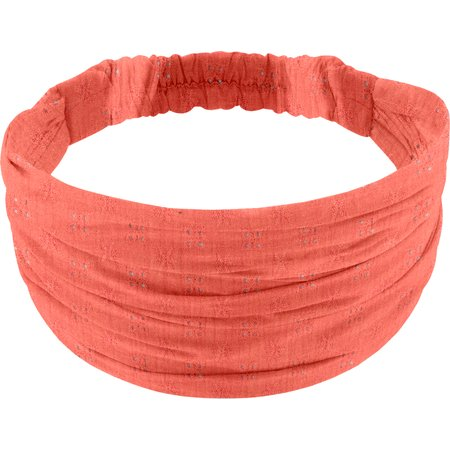 Headscarf headband- child size gaze dentelle corail