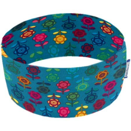 Stretch jersey headband  naif fleur saphir