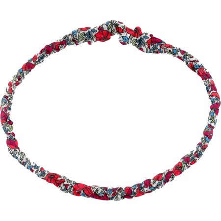 Plait hairband-adult size poppy