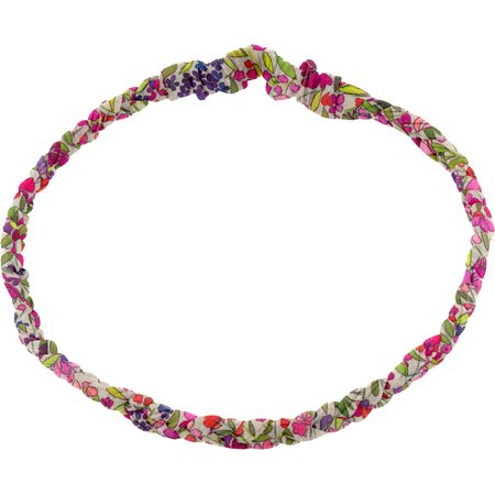 Plait hairband-adult size purple meadow