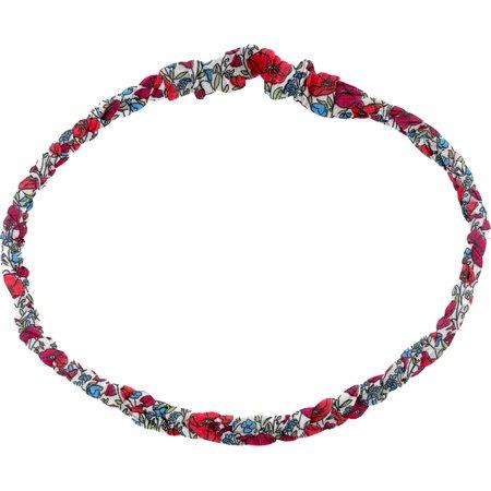 Plait hairband-children size poppy