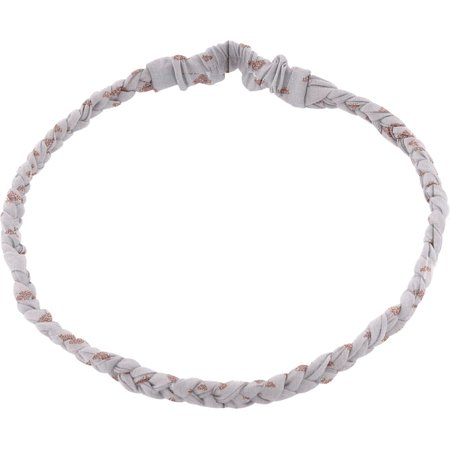 Plait hairband-children size gray copper triangle