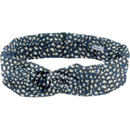 Bandeau vintage  eclats bleu nuit