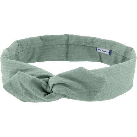 Wire headband retro sage green gauze