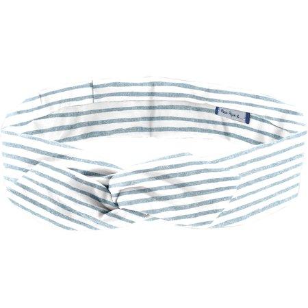 Bandeau vintage rayé bleu blanc