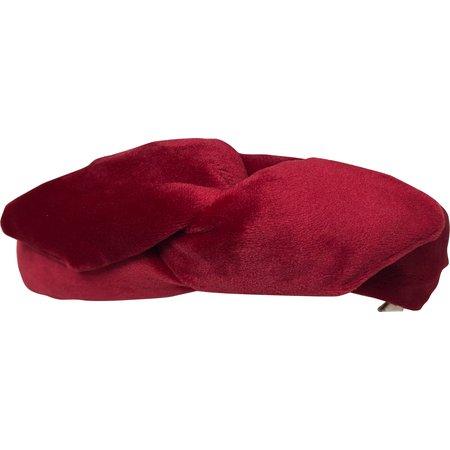 Bandeau vintage  velours rouge