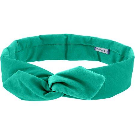 Wire headband retro green laurel