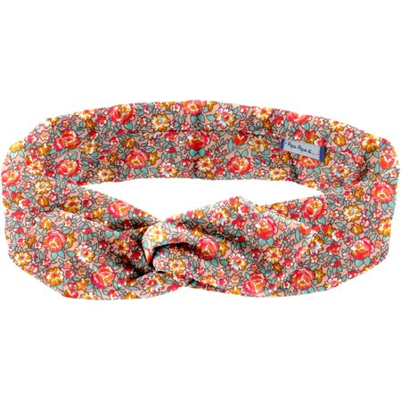 Wire headband retro peach flower