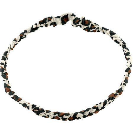 Plait hairband-adult size leopard print
