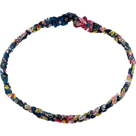 Plait hairband-children size pink blue dalhia