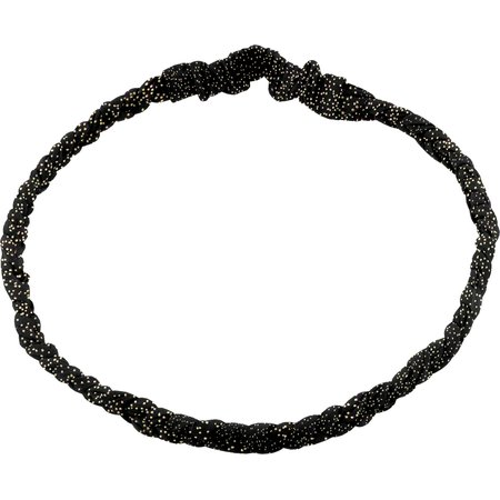 Plait hairband-children size glitter black