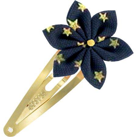 Barrette clic-clac fleur étoile etoile marine or