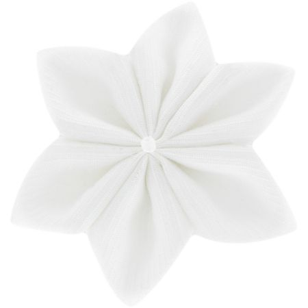 Star flower 4 hairslide white