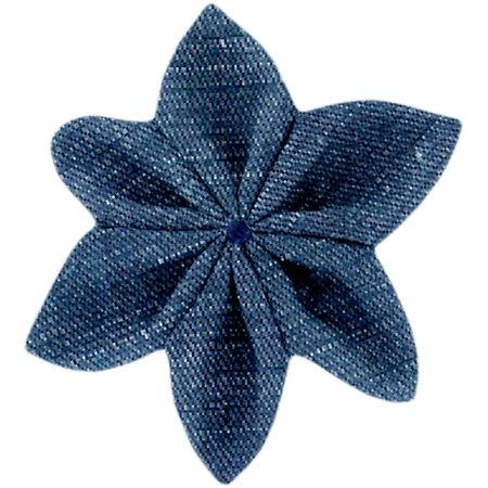 Star flower 4 hairslide light denim