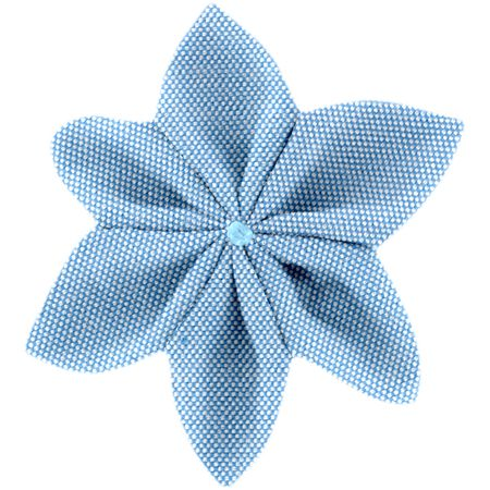 Star flower 4 hairslide oxford blue