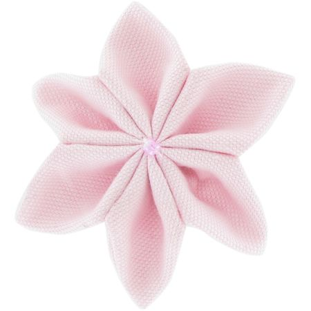 Star flower 4 hairslide light pink