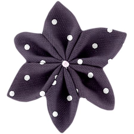 Star flower 4 hairslide plum spots