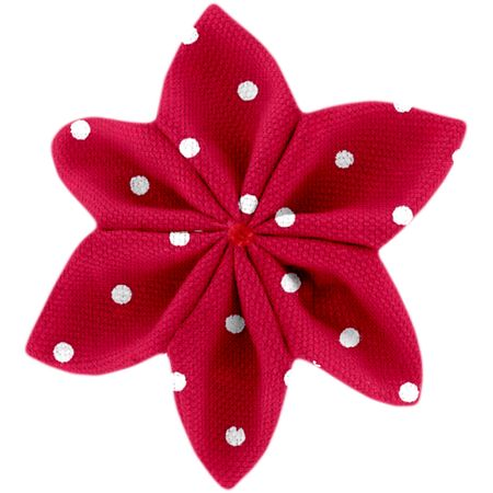 Star flower 4 hairslide red spots