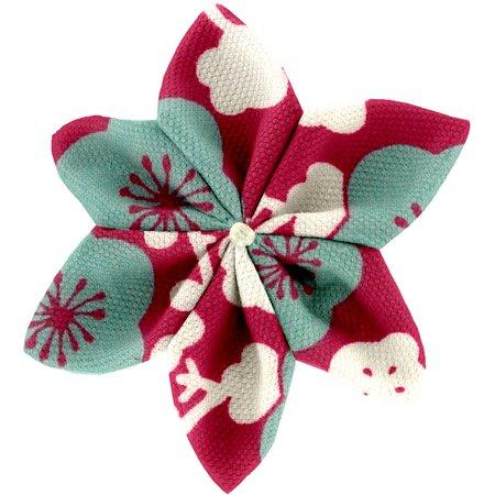 Pasador flor estrella cerezo rubí