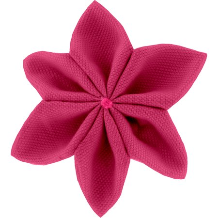 Star flower 4 hairslide fuschia