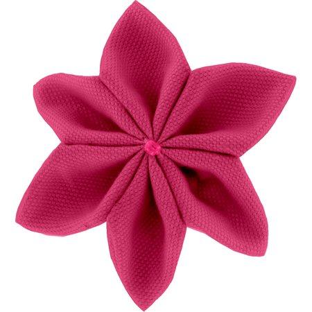 Barrette fleur étoile 4 fuchsia