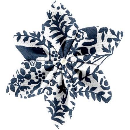 Barrette fleur étoile 4 scandinave marine