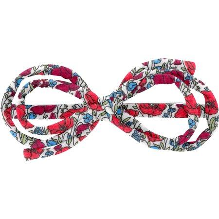 Arabesque bow hair slide poppy