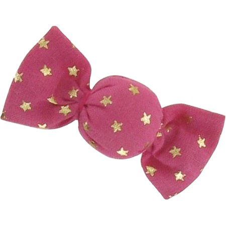 Mini sweet hairslide fuchsia gold star