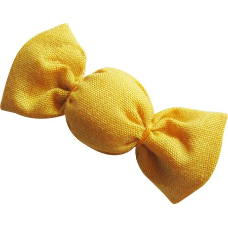Mini sweet hairslide yellow ochre