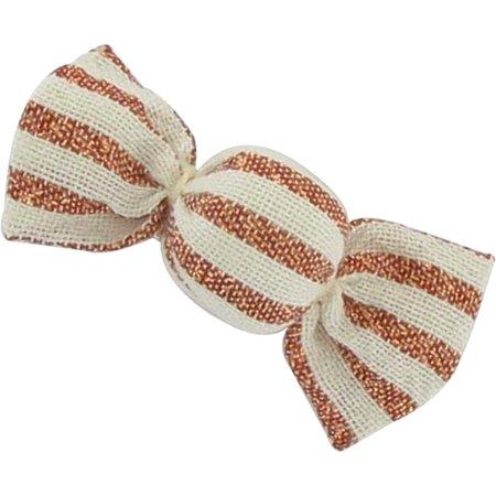 Pasador mini caramelo rayado cobre