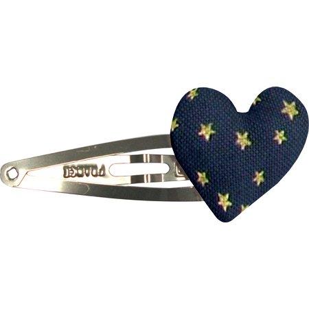 Heart hair-clips etoile or marine