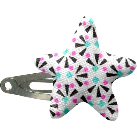 Star hair-clips neon shards
