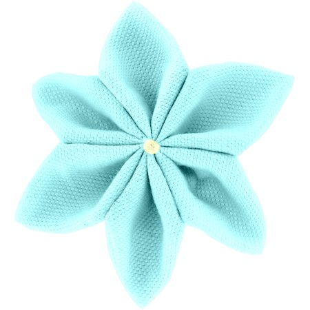 Barrette fleur étoile 4 azur