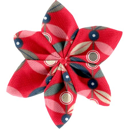 Star flower 4 hairslide paprika petal
